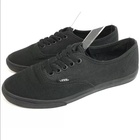 Vans Shoes | Low Top Sneakers All Black